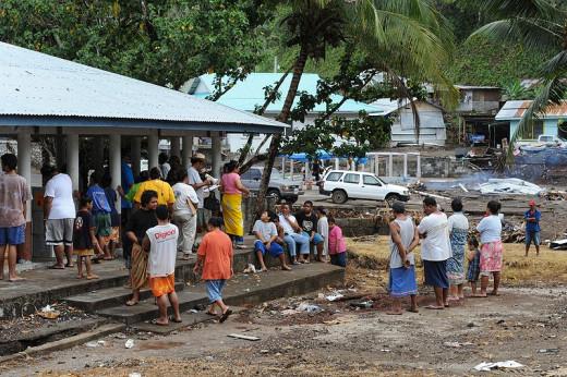 In 2009, a huge 8.8 magnitude earthquake struck near American Samoa, causing four tsunamis to hit the island