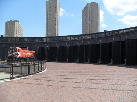 Historic Roundhouse was used in the past to clean steam engines