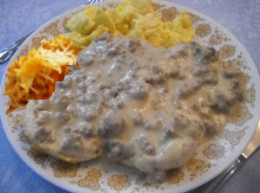Country Sausage Gravy Camping Breakfast