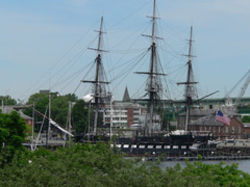 USS Constitution sails annually from Charleston Harbor.