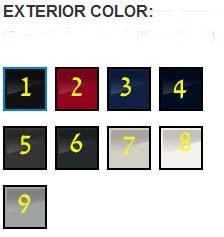 A3 exterior colors