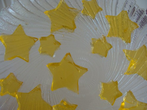 Finger jello stars.