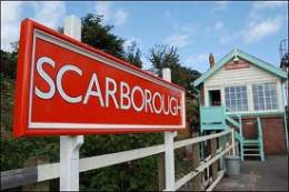 Scarborough Station, looking along the Falsgrave platform