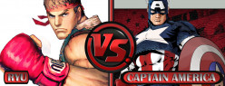 Ryu vs Captain America