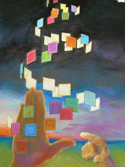 """The Sign"" by deaf artist, Chuck Baird"