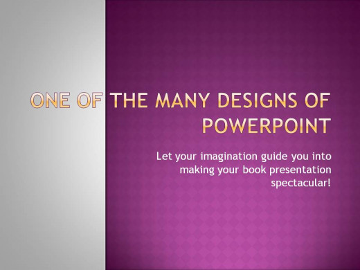 Designed on PowerPoint - would your book title look good here?
