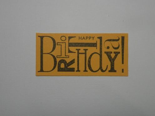 Birthday Sentiment stamped