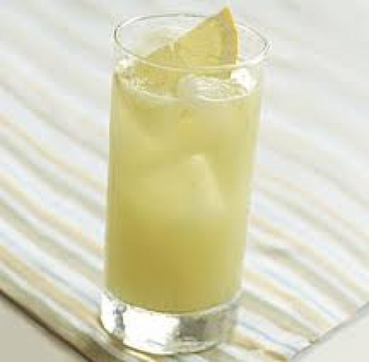 Delicious and refreshing  honeydew spritzer