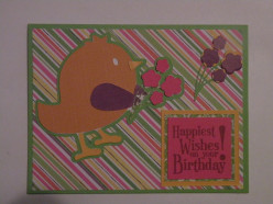 Easy to Make Birthday Card: Flower Bird