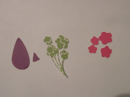 Wings, Flower Stem and blossoms cardstock.