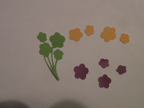 Extra flower bouquet cardstock