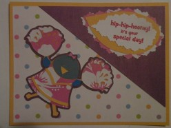 Easy to Create Happy Birthday Cheerleader Card