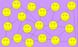 Social networking of the smiles. This is very much similair to the social nteworking of the smiling hubbers on the HP