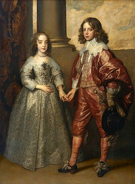 This painting of Prince William II and Princess Mary Stuart is in the public domain worldwide.