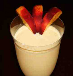 Smooth Nectarine and Mango Milkshake