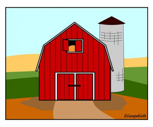Barns have a unique roof design and a distinctive red paint job.
