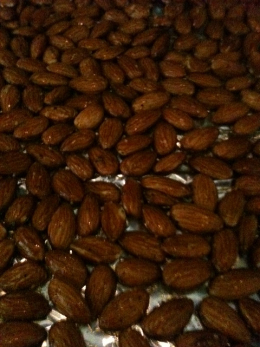 Delicious roasted almonds