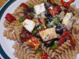 Tofu with pasta & sundried tomatoes
