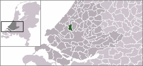 Map location of Delft