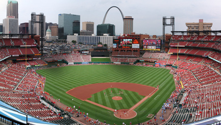 Busch Stadium Panorama in St. Louis, Missouri