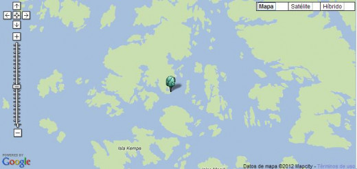 A more detailed location of Hewett Bay.