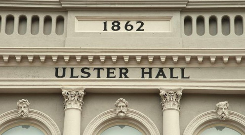Part of the Bedford Street façade, Ulster Hall, Belfast
