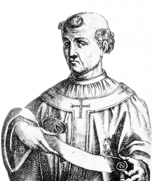 Pope Formosus from Cavallieri, 1588