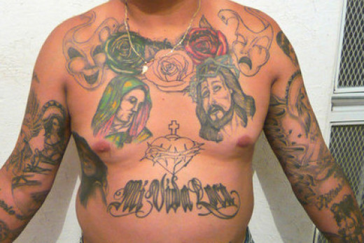 This example shows affiliation to a criminal gang in Mexico. To those unfamiliar, it looks innocent.