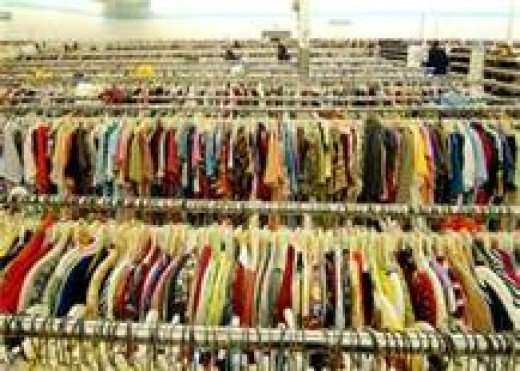 Thrift shops are a great resource for donating or buying used clothing