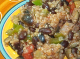 Black bean and rice with veggies
