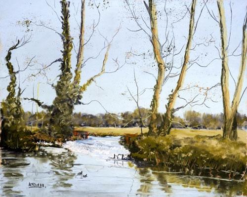 Kieron Williamson, age 9, painting