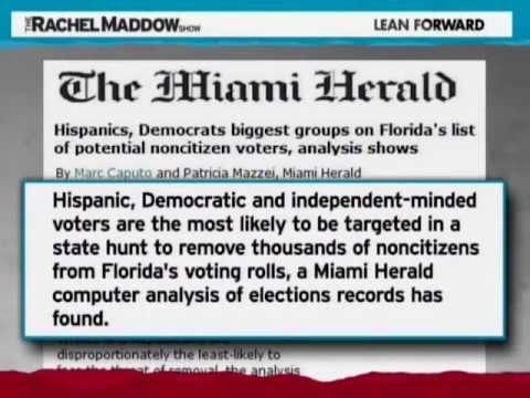 Purging Americans from Voter Rolls Because Their Names Sounds like They Will Vote for A Democratic is going off the Deep End