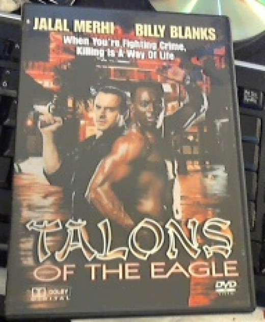 """DVD of """"Talons of the Eagle"""" that I own."""