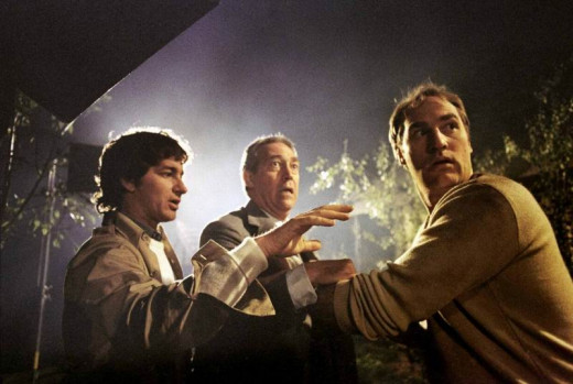 Steven Spielberg with James Karen and Craig T. Nelson