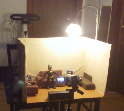 Set Under Lamp Light With Panasonic PV-GS500 Camcorder