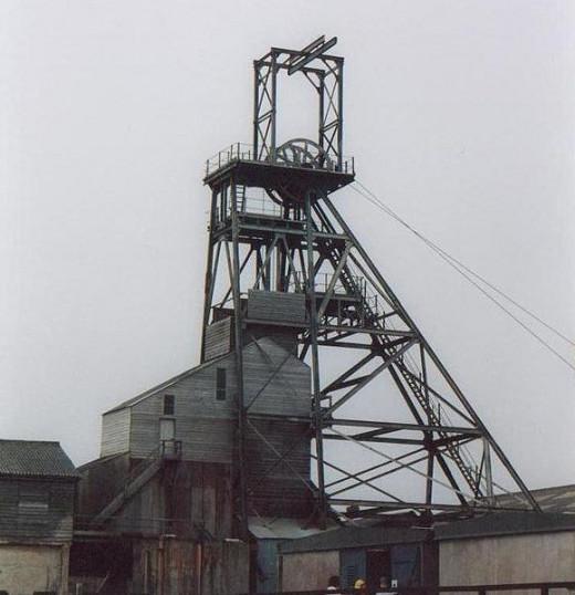 Geevor Tin Mine Headframe, Cornwall