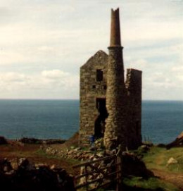 A ruined tin mine in Cornwall.