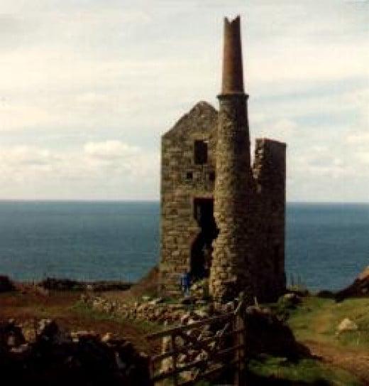 A ruined tin mine in Cornwall.