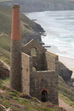 Wheal Coates tin mine near St Agnes, Cornwall