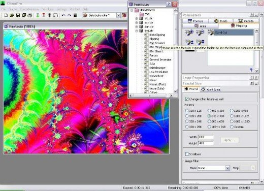"I go over to ""Ultra Fractal"" and then to the subfolder ""dmj.ctr"" and select ""spiral cut"" and the image changes."