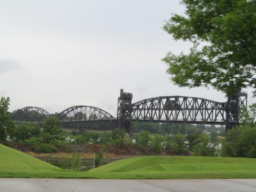 Arkansas River bridges span Little Rock, and North Little Rock