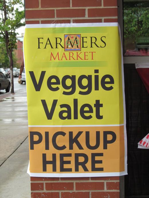 Go ahead and get that half dozen watermelon...you have Veggie Valet pick-up