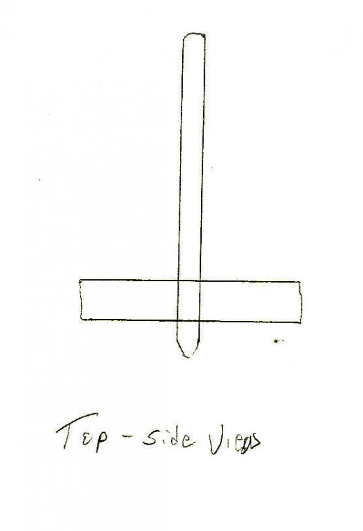 Figure 3.  The side view of a simple top.