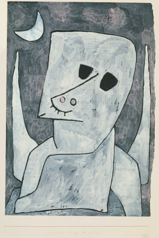 "Paul Klee, ""Angel Applicant"" 1939"