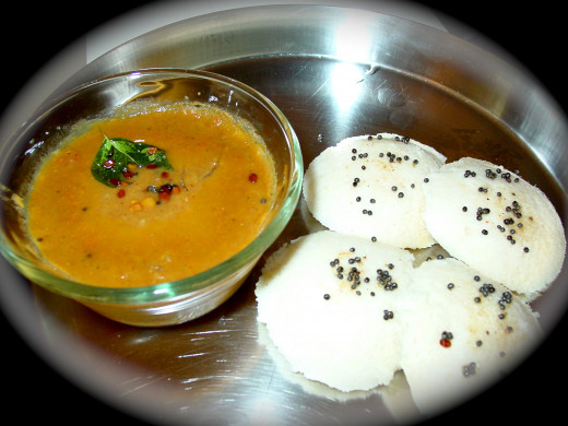 Delicious Idli with Sambhar( Soup)