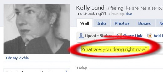 Keep your Facebook page updated with what you're doing...