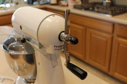 Hand Crank Kitchen Aide Conversion Mixer