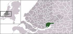 Map location of Dordrecht, The Netherlands