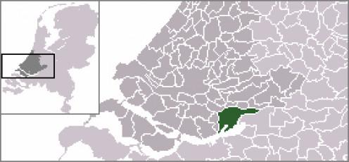 Map location of Dordrecht, The Netherlands