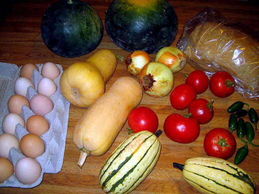 CSAs can include a wide variety of produce, including seasonal fruits and vegetables, eggs and breads.